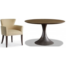 Casablanca Sepia Round Dining Room Set