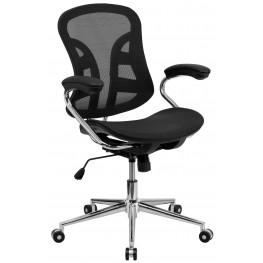 Mid-Back Chrome Computer Chair