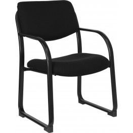 Black Executive Side Chair With Sled Base (Min Order Qty Required)