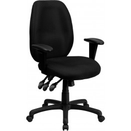 High Back Black Ergonomic Task Arm Chair (Min Order Qty Required)
