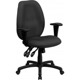 High Back Gray Ergonomic Task Arm Chair (Min Order Qty Required)
