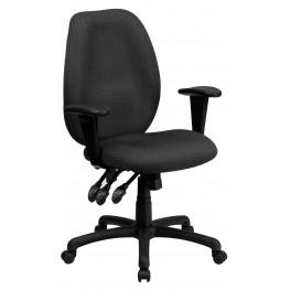 High Back Gray Ergonomic Task Arm Chair