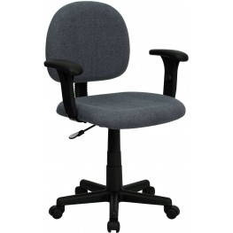 Ergonomic Gray Task Chair With Adjustable Arms (Min Order Qty Required)