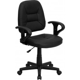 Black Ergonomic Task Chair With Arms (Min Order Qty Required)