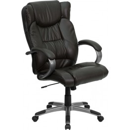 High Back Espresso Brown Executive Office Chair (Min Order Qty Required)
