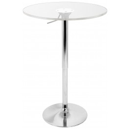 Adjustable Clear Bar Table