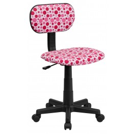 Printed Pink Dot Computer Chair (Min Order Qty Required)