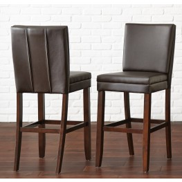 Bennett Brown Vinyl Counter Chair Set of 2