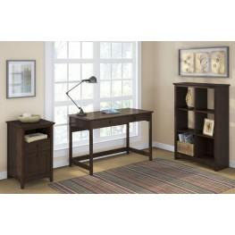 Buena Vista Madison Cherry Writing Desk W/ 6 Cube & 2 Drwr Pedestal