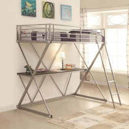 400034T Twin Workstation Loft Bed with Desk