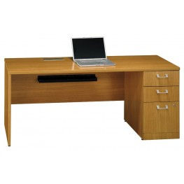 Quantum Modern Cherry 72 Inch RH Single Pedestal Desk