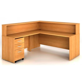 SRC003LO Series C Light Oak Office Set