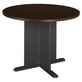 Series A Mocha Cherry 42 Inch Round Conference Table