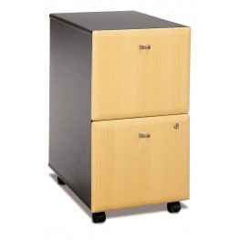 Series A Beech Mobile Pedestal With Two File Drawer