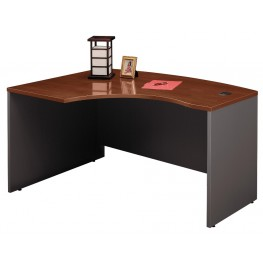 Series C Hansen Cherry 60 Inch LH L-Bow Desk Shell