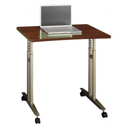 Series C Hansen Cherry Adjustable Height Mobile Table