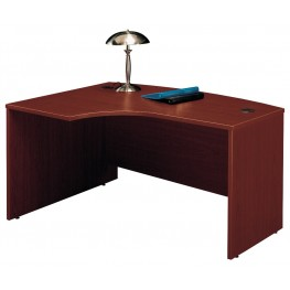 Series C Mahogany 60 Inch LH L-Bow Desk Shell
