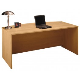 Series C Light Oak 72 Inch Bow Front Desk Shell