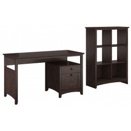 Buena Vista Madison Cherry Single Pedestal Desk With 6 Cube Storage