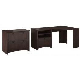 Buena Vista Madison Cherry Corner Desk With Lateral File