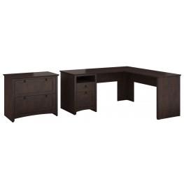 Buena Vista Madison Cherry L-Desk With Lateral File