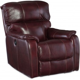 Red Wine Leather Power Recliner