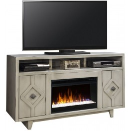 "Beverly 61"" Gray Fireplace Console"
