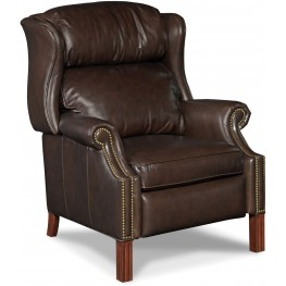 Finley Light Brown Leather Recliner