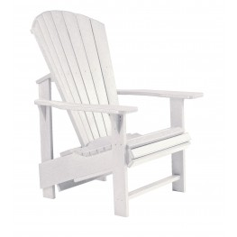 Generations White Upright Adirondack Chair