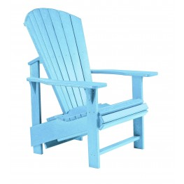 Generations Aqua Upright Adirondack Chair