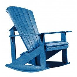 Generations Blue Adirondack Rocking Chair