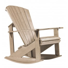 Generations Beige Adirondack Rocking Chair
