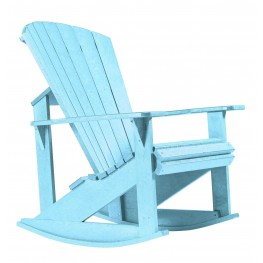 Generations Aqua Adirondack Rocking Chair