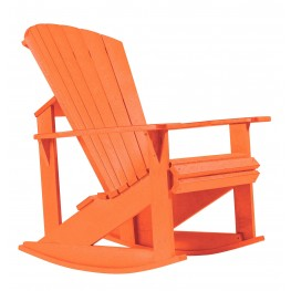 Generations Orange Adirondack Rocking Chair
