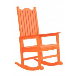 Generations Orange Casual Porch Rocker