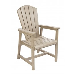Generations Beige Adirondack Dining Arm Chair