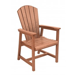 Generations Cedar Adirondack Dining Arm Chair