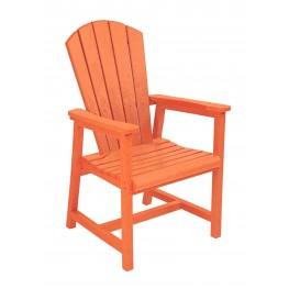 Generations Orange Adirondack Dining Arm Chair