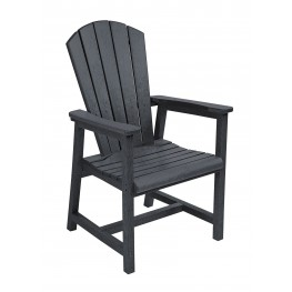 Generations Black Adirondack Dining Arm Chair