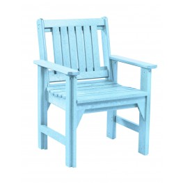Generations Aqua Slat Back Dining Arm Chair
