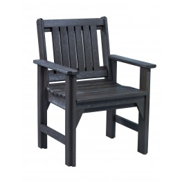 Generations Black Slat Back Dining Arm Chair