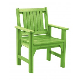 Generations Kiwi Lime Slat Back Dining Arm Chair