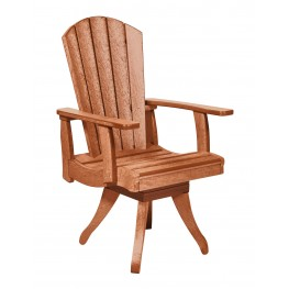 Generations Cedar Swivel Dining Arm Chair
