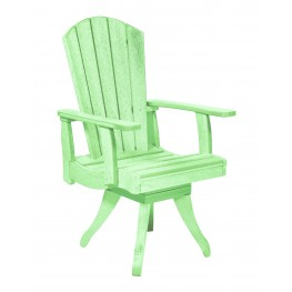 Generations Lime Green Swivel Dining Arm Chair