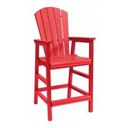 Generations Red Adirondack Dining Pub Arm Chair