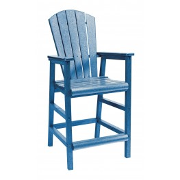 Generations Blue Adirondack Dining Pub Arm Chair