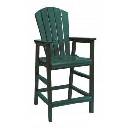 Generations Green Adirondack Dining Pub Arm Chair
