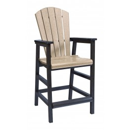 Generations Beige/Black Adirondack Dining Pub Arm Chair