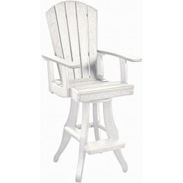 Generations White Swivel Pub Arm Chair