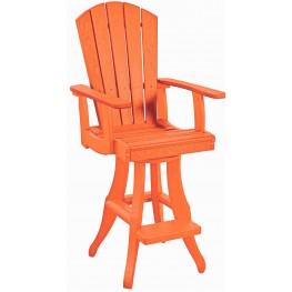 Generations Orange Swivel Pub Arm Chair